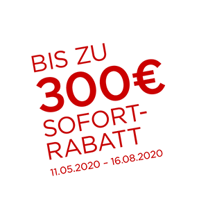 up to 300 euro cashback